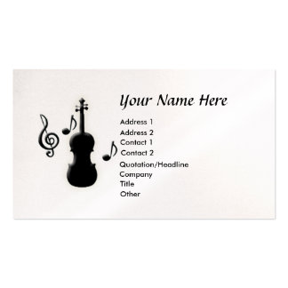 Violin G-Clef Music Notes Business Card