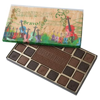 Violin Garden Concert Congratulations Assorted Chocolates