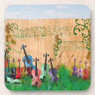 Violin Garden Drink Coaster