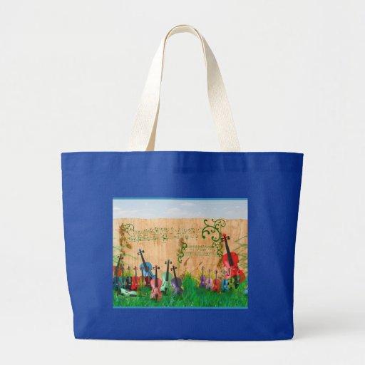 Violin Garden Jumbo Tote Bag