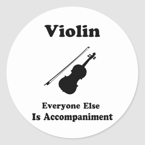 Violin Gift Classic Round Sticker