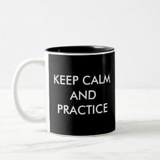 Violin Gift-Coffee Mug-Keep Calm Two-Tone Coffee Mug