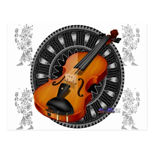 VIOLIN GIFTS CUSTOMIZABLES PRODUCTS POSTCARD