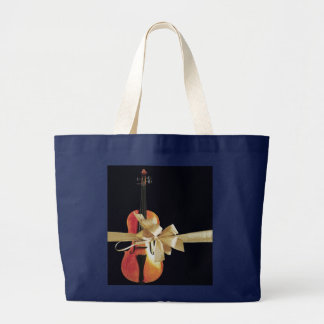Violin Holiday Large Tote Bag