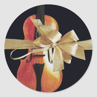 Violin Holiday Stickers