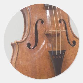 Violin II Round Stickers
