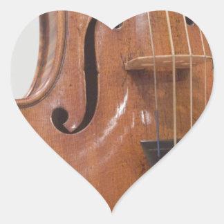 Violin II Heart Sticker