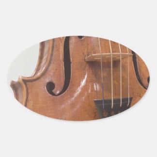 Violin II Oval Sticker