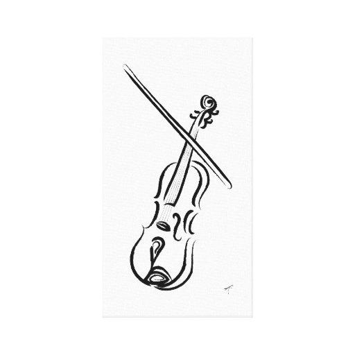 Violín Impresion En Lona