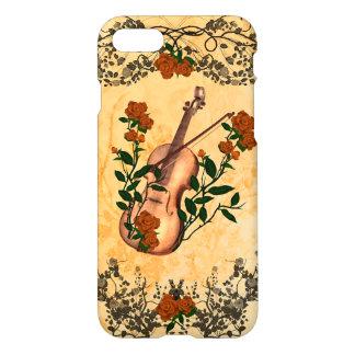 Violín impresionante con el arco de violín funda para iPhone 7