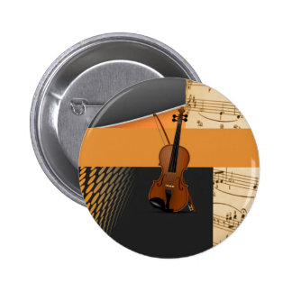 Violin in Abstract Pinback Button