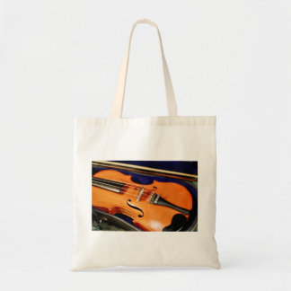 Violin in Case Tote Bag