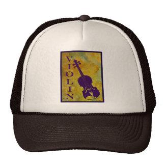 Violin in Golden Window Trucker Hat