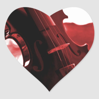 Violin in Red and Black Stickers