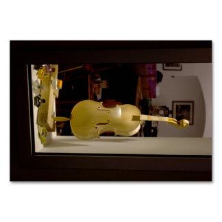 Violin In Shopping Window Card