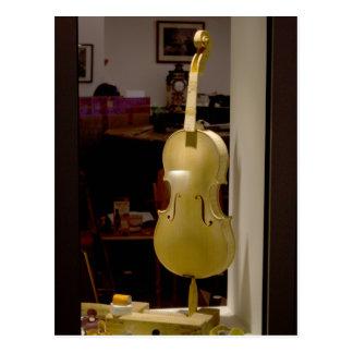 Violin In Shopping Window Postcard
