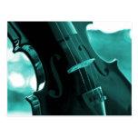 Violin in Teal and Black Post Card