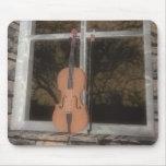 Violin in the Window: Original Version: Mousepad