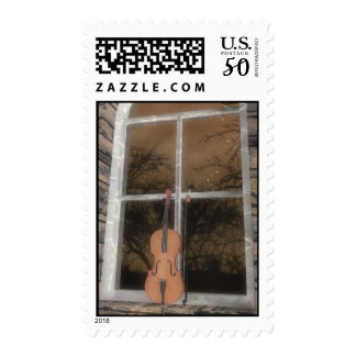 Violin in the Window: Original Version: US Postage