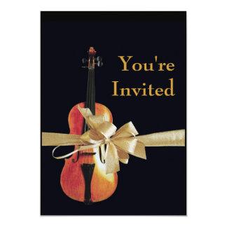 Violin 5x7 Paper Invitation Card
