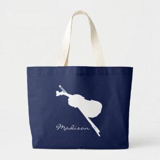 Violin Jumbo Tote Bag