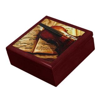 Violin Keepsake Jewelry & Trinkets Gift Box