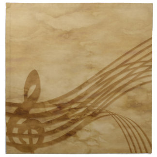 Violin key cloth napkin