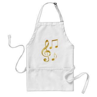 Violin key elegant adult apron