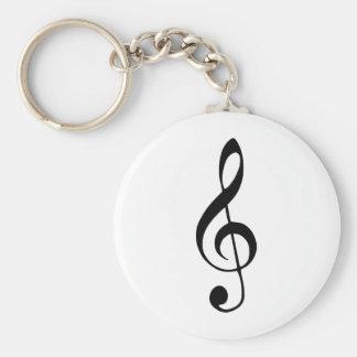 violin key music basic round button keychain