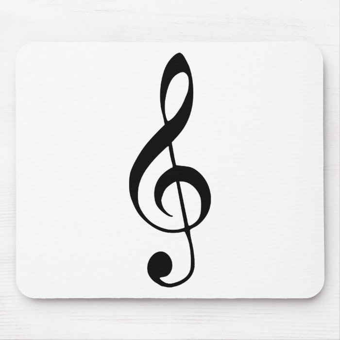 violin key music mouse pad