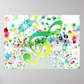 Violin key poster