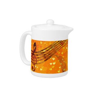 Violin key teapot