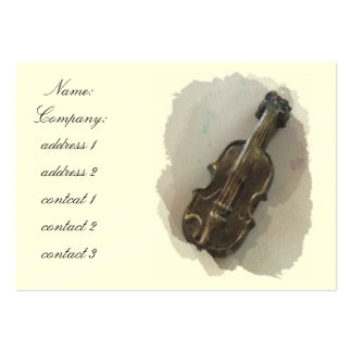 violin large business card