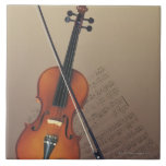 Violin Large Square Tile