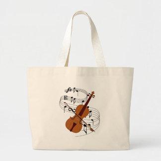 Violin Large Tote Bag