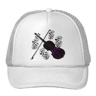 Violín, love_ oscilante gorras de camionero