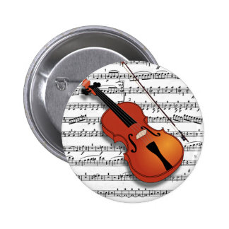 Violin Lover_ 2 Inch Round Button