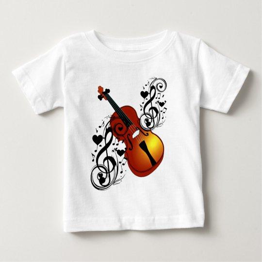 Violin,Lover at Heart_ Baby T-Shirt