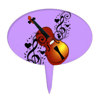 Violin Lover at Heart_ Cake Toppers