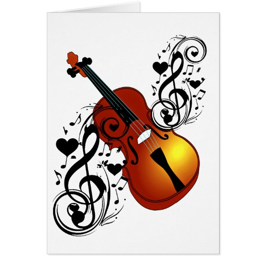 Violin,Lover at Heart_ Card