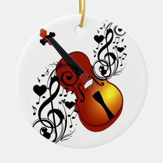 Violin,Lover at Heart_ Ceramic Ornament