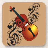 Violin,Lover at Heart_ Coaster