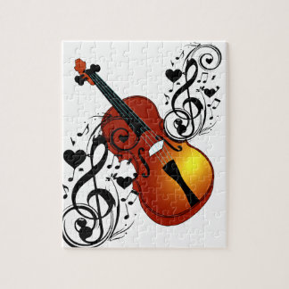 Violin,Lover at Heart_ Jigsaw Puzzle