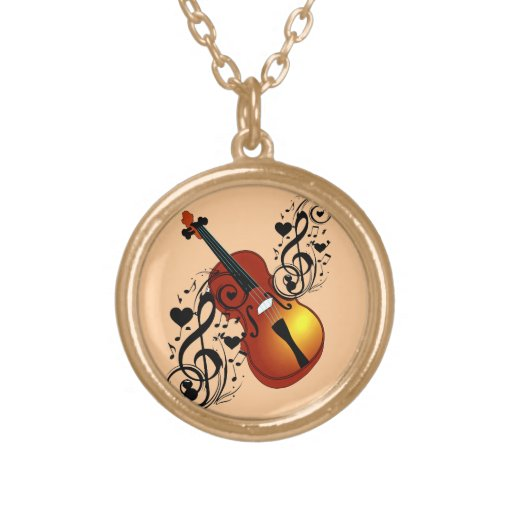 Violin,Lover at Heart_ Necklace