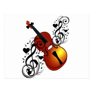 Violin,Lover at Heart_ Postcard