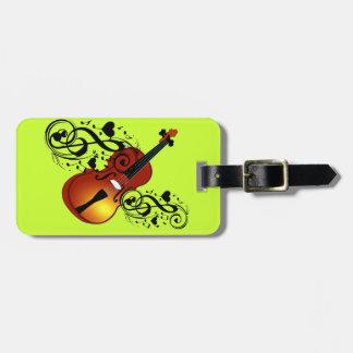 Violin,Lover at Heart_ Travel Bag Tags