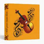 Violin,Lover at Heart_ Vinyl Binder