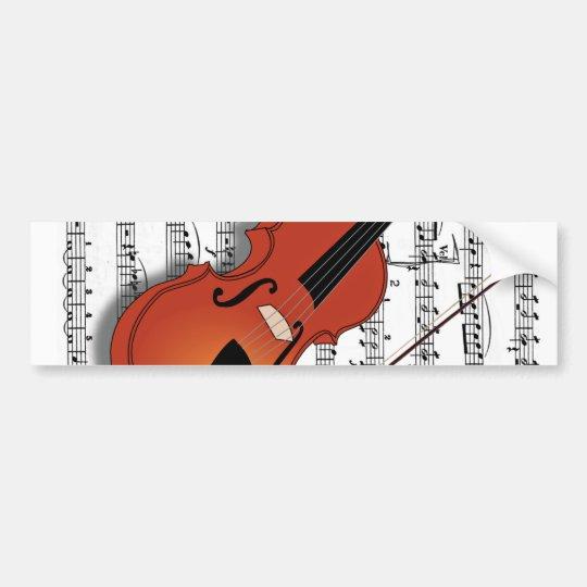 Violin Lover_ Bumper Sticker