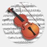 Violin Lover_ Classic Round Sticker
