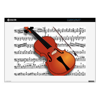 "Violin Lover_ Decals For 15"" Laptops"